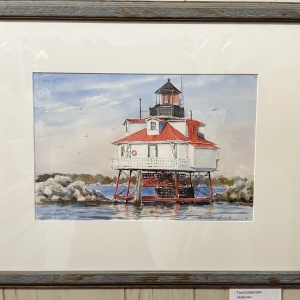 watercolor of a lighthouse