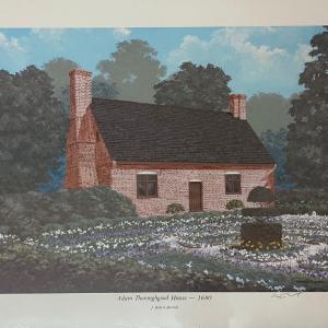 brick historical house in garden